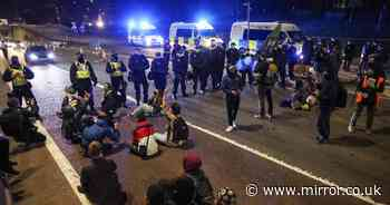 Kill the Bill protesters sit down on motorway amid 'we are peaceful' chants