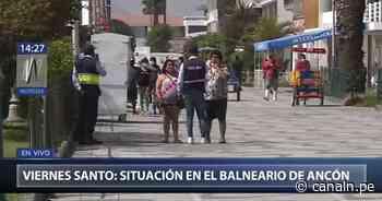 Ancón: Controlan aglomeración de personas en el balneario - Canal N