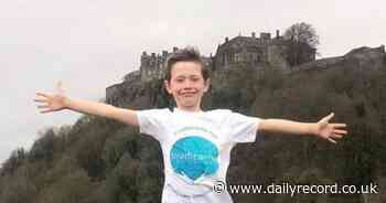 Bannockburn boy completes 5km a day challenge in aid of hospice - Daily Record
