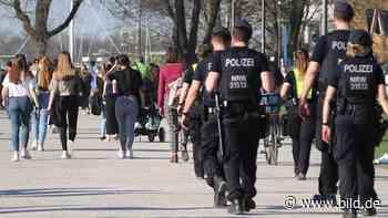 Reiterstaffel kontrolliert Poller Wiesen - Stadt Köln räumt Rheinboulevard - BILD
