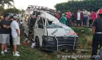 Tragedia en Coatepeque: Microbús choca contra un camión y mueren cuatro personas, entre ellas una niña de 2 años - guatevision.com