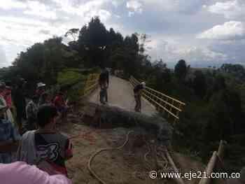 Se inician obras de demolición del puente en Salón Rojo, Aranzazu - Eje21