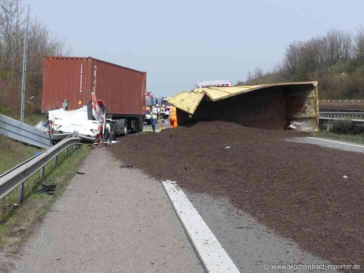 Feuerwehr Neustadt: LKW-Unfall auf der A65 bei Edenkoben - Wochenblatt-Reporter