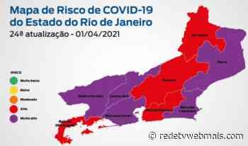 Mapa de Classificação de risco covid-19 coloca Magé e Guapimirim com Bandeira de Alto Risco - Rede Tv Mais