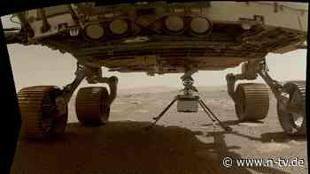 Nasa bestätigt Landung: Mini-Helikopter auf Mars abgesetzt