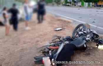 Embiste Tsuru a motociclista en Puerto Escondido 12:01 Jéssica Martínez - Quadratín Oaxaca