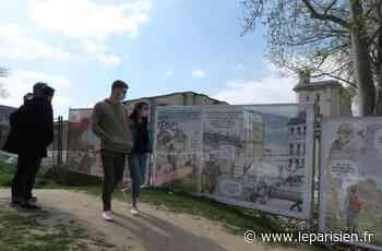 Le château de Vincennes se raconte en BD sur les palissades de chantier - Le Parisien