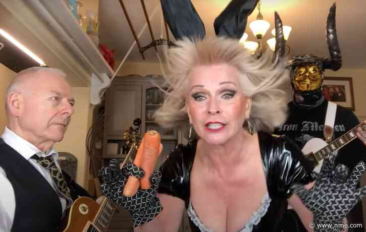 Robert Fripp and Toyah Willcox joined by horned guitarist for Iron Maiden cover