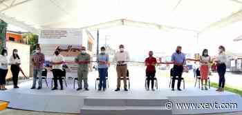 Inauguran 1ra etapa de modernización de boulevard de Teapa - XeVT 104.1 FM   Telereportaje