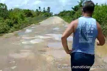"""DER """"esclarece"""" horrível estrada Pacatuba-Brejo Grande NE Notícias disponibilizou, para os internautas, o vídeo que - NE Notícias"""