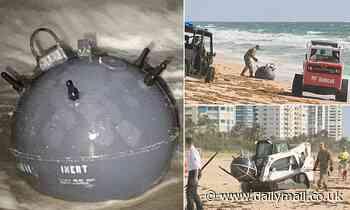 Naval MINE washes ashore on popular Florida beach