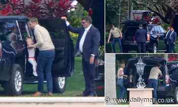Eric and Lara Trump packing up at Mar a Lago