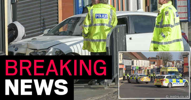 Two-week-old baby dies after his pram was hit by a car
