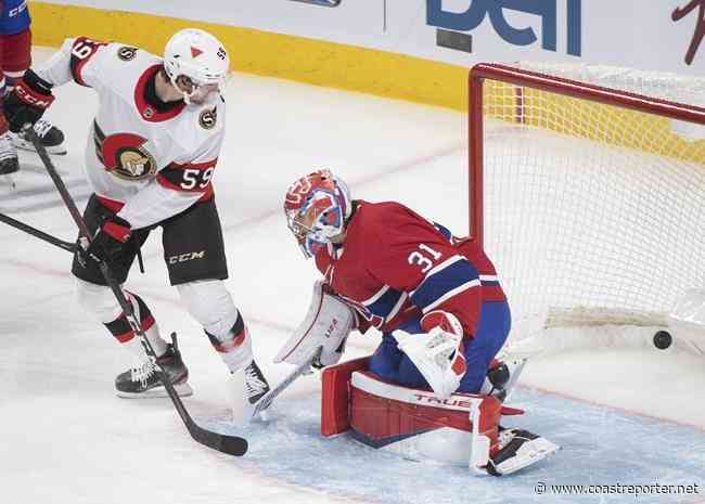Ottawa Senators snap Montreal's three-game win streak, defeating the Canadiens 6-3 - Coast Reporter