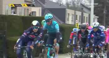 Tour de Flandes: la pelea a empujones de dos ciclistas que fueron expulsados de la carrera - Semana
