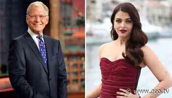 David Letterman riles up Indian fans for making fun of Aishwarya Rai - Geo News