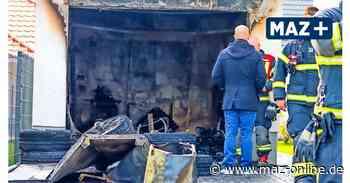 Marwitz: Garage brennt komplett aus – Feuerwehr verhindert aber Schlimmeres - Märkische Allgemeine Zeitung