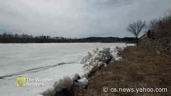 Ice shoves pilling up along the Shawinigan River - Yahoo News Canada