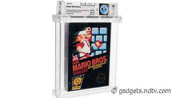 Super Mario Bros. Nintendo Game From 1986 Auctions for $660,000 - Gadgets 360
