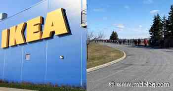 Video Shows A Massive Line At IKEA Boucherville On Friday & It Doesn't Seem Like A One-Off - MTL Blog