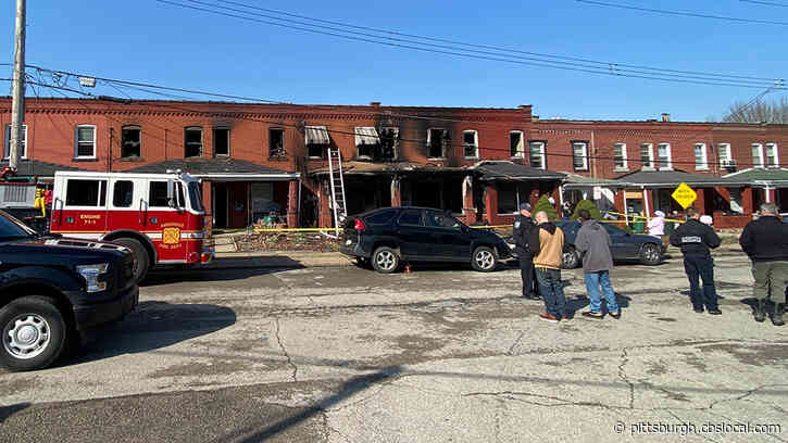 Several Families People Displaced Following Massive Ambridge Row House Fire