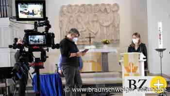 Oster-Kirche in Peine beim Spazieren, in der Tüte, per Video