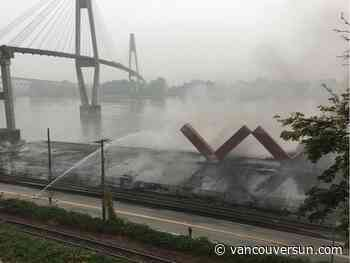 Section of New Westminster's Pier Park to reopen after fire badly damaged pier - Vancouver Sun