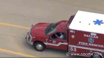WATCH: Chase Ends After Driver Gets Stuck in Stolen Ambulance, Tries to Escape on Foot