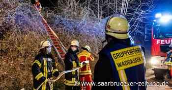 Hochsitz in Wadgassen Wald in Brand gesetzt Polizei Feuerwehr - Saarbrücker Zeitung