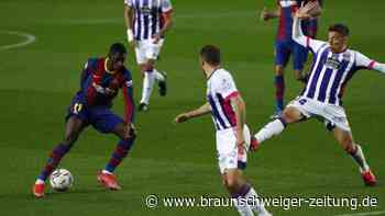 Primera División: Barcelona müht sich zum Last-Minute-Sieg gegen Valladolid