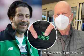 Hollywood star and Die Hard actor Bruce Willis pictured with Celtic hat... - The Scottish Sun