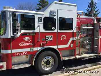 Firefighters battle three-alarm blaze in Gatineau