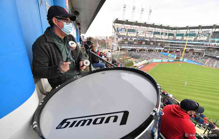 Watch The Black Keys' Patrick Carney fill in as the Cleveland Indians drummer