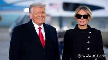 Verliebt wie eh und je?: Melania zeigt sich mit Donald Trump