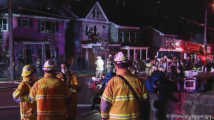 Pittsburgh Firefighter Taken To Hospital After Two Homes Catch Fire In Mt. Oliver