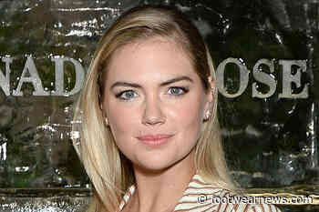 Kate Upton Finds the Perfect Spring Dress to Match Classic White Sneakers for Easter - Footwear News