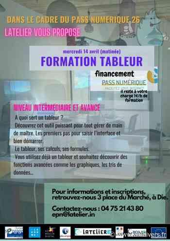 Formation tableur Pass numérique LATELIER mercredi 14 avril 2021 - Unidivers