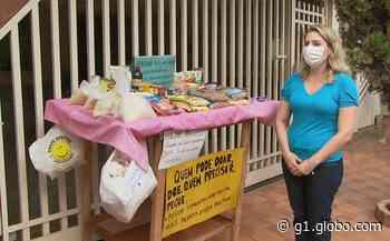 Inspirada em pedido de ajuda na internet, moradora de Santa Gertrudes monta mesa solidária para doar alimentos - G1