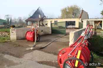 Une maison totalement détruite dans un incendie près d'Argentan, à Sarceaux - actu.fr