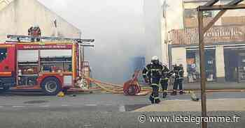 Incendie dans le centre de Guidel : la piste d'une défaillance électrique ? - Le Télégramme