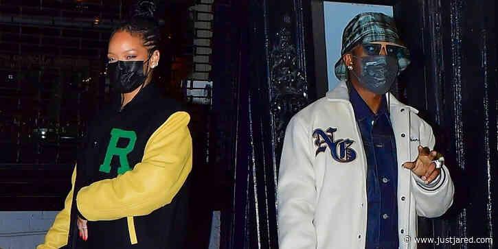 Rihanna & Boyfriend A$AP Rocky Go to Dinner Together in NYC
