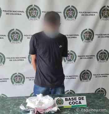 Capturan joven con un kilo de cocaína en Itagüí - Itagüí Hoy