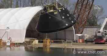 NASA drops test spacecraft into million-gallon pool, makes a big splash     - CNET