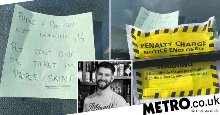'Skint' driver's desperate Post-it note to avoid parking ticket is unsuccessful