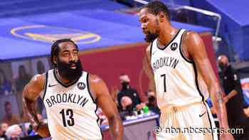 Harden out at least 10 days with hamstring strain; Durant return probable Wednesday