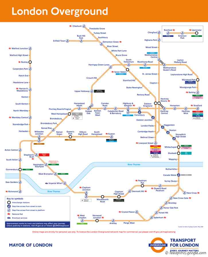 London Overground could be split into individual lines