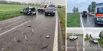 Asola, due incidenti in 20 minuti, due feriti in codice giallo - OglioPoNews