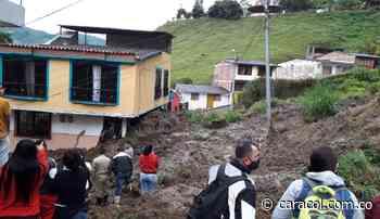 Deslizamiento en Chinchiná deja seis viviendas afectadas - Caracol Radio