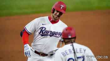 Nate Lowe homers twice, pads RBI record as Rangers beat Jays