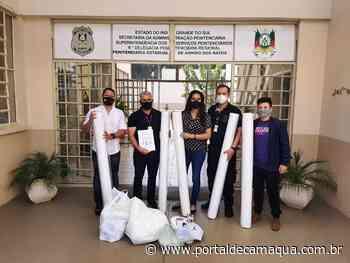 Apenados da Penitenciária de Arroio dos Ratos vão produzir cinco mil máscaras de proteção para crianças e jovens da rede de ensino do Município - Portal de Camaquã
